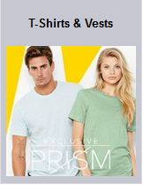 T shirts and vest department