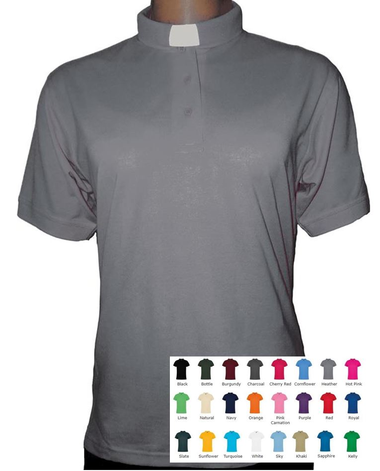 efcc43f9dee98e Ladies Clerical Clergy Polo Shirt - Tailored Shape - 24 Colours ...