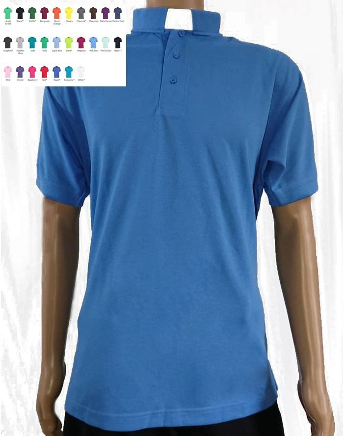 1d1af450c75e2e Men's Clerical Clergy Polo Shirt - Superwash® 60°C in 27 Colours ...